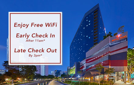 Free WiFi, Early Check-In, Late Check-Out Singapore