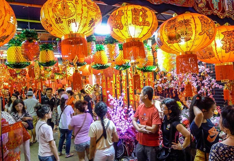 Chinese New Year Stalls at Chinatown
