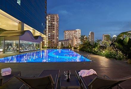 Facilities Singapore Hotel With Sky Terrace Outdoor