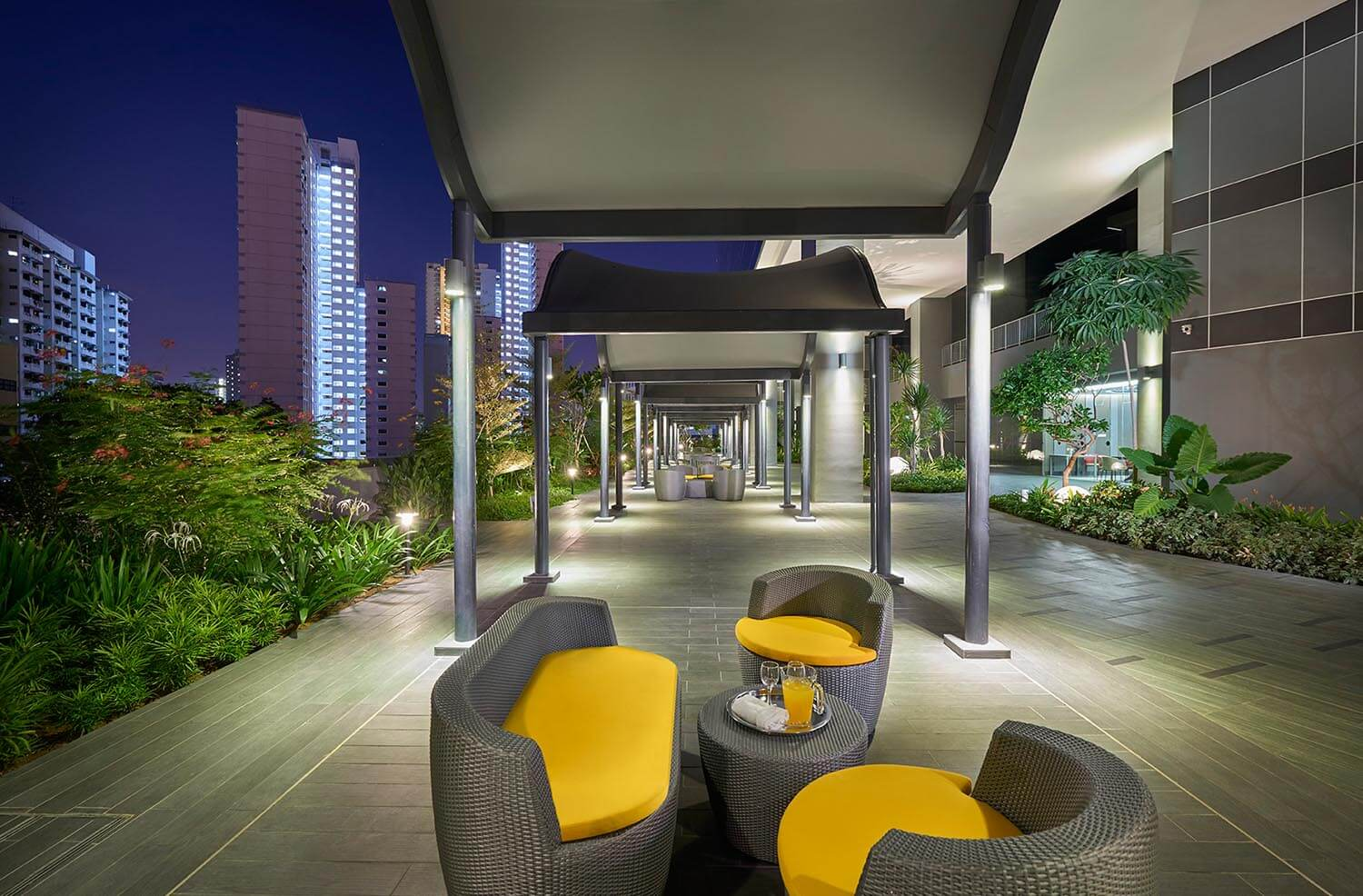 Hotel Boss alfresco area