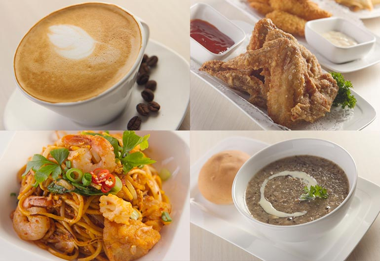 Local Halal Food, Chicken Wing, Mee Goreng, Popiah and Desserts @ Hotel Boss Singapore